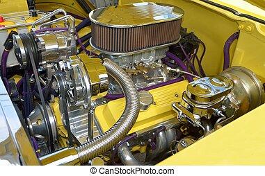 motor, auto, op bestelling gebouwd