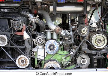 motor, av, den, bil.