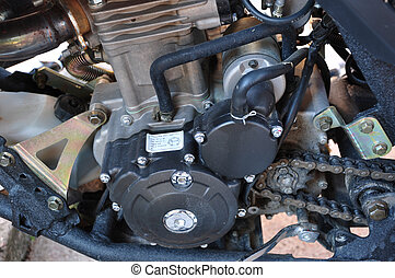 motor, av, den, cykel