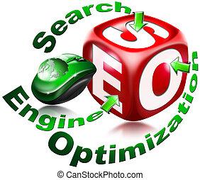 motor, búsqueda, cubo, -, optimizati, seo