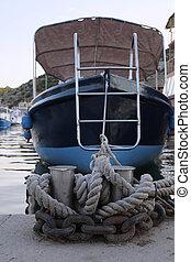 motor, barco