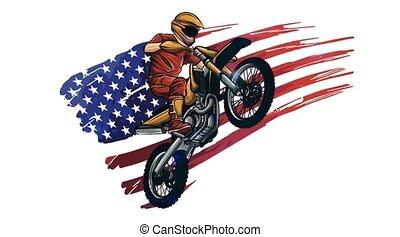 Motor bike racing with rider - Motor bike racing with ...