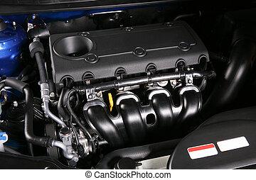 motor, bil, färsk