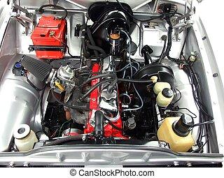 motor, bil, oldtimer