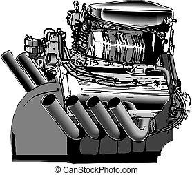 motor, bild