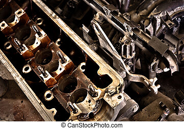 Motor block of a car