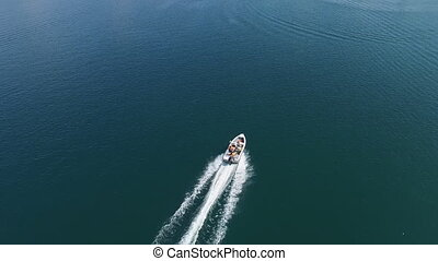 Motor Boat Aerial