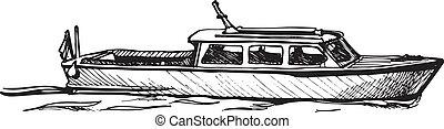 motor boat.