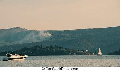 Motor boat in Montenegro