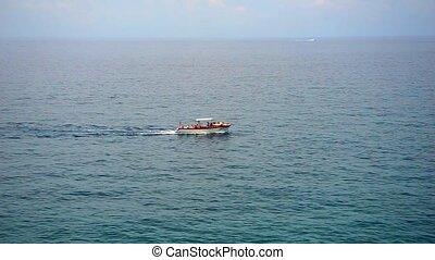 motor boat on a sea
