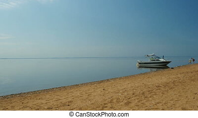 boat on the beach - Motor boat on the beach beautiful...