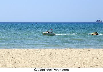 Motor boat on the sea at Patong beach
