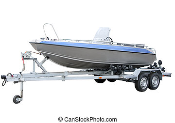 Motor Boat separately on a white background