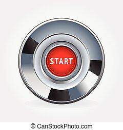 motor, botão iniciar