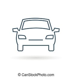 Motor car icon on white background - Front of car icon....