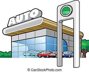 motor-car industry - vector illustration Motor Show (Simple...