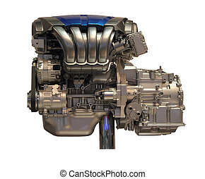 motor, car, isolado, fundo, novo, branca