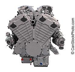 motor, car, modernos, isolado, fundo, branca