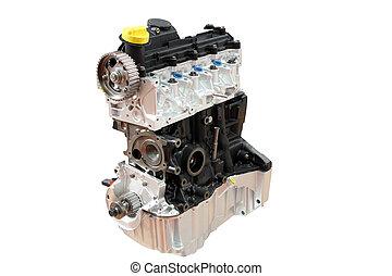 motor carro, isolado, parte, branca