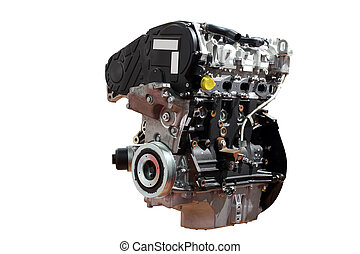 motor carro, poderoso, fundo, isolado, branca