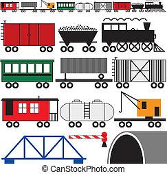 motor, carros, trem