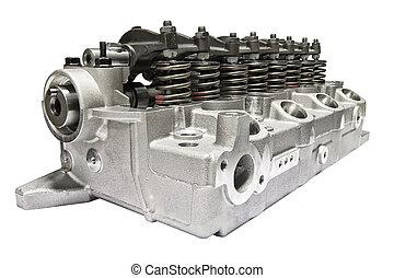 motor, cilindro, combustión, cabeza