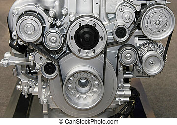 motor, cinturón, sistema