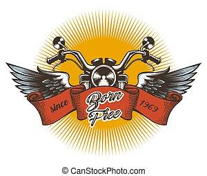 Motor Club Colorful Emblem - Biker Club Colorful Emblem. ...