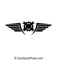 Motor club emblem logo design vector illustration template...