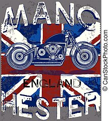Motor Club Manchester With England Flag