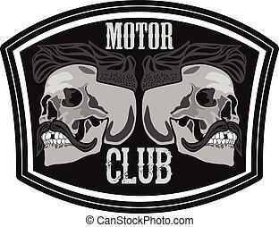 Motor club skull illustration