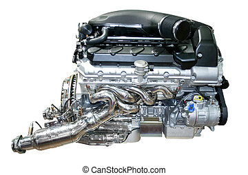 motor, coche, aislado