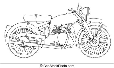 Motor Cycle Outline - A classic style motor cycle outline...