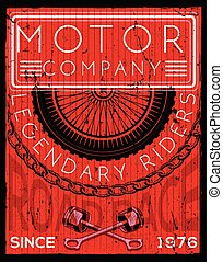 Motor cycle poster graphic design