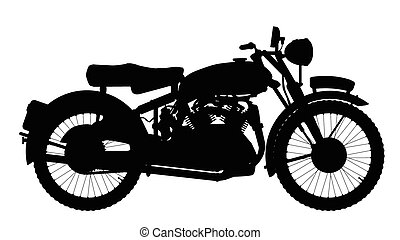 Motor Cycle Silhouette - A classic style motor cycle...