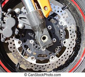 motor, disco, freio, motocicleta