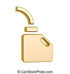 motor, dourado, símbolo, óleo