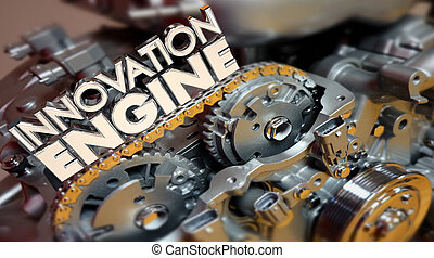 motor, empresa / negocio, creación, ideas, laboratorio, ilustración, innovación, nuevo, 3d