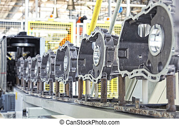 motor, fabricación coche, partes