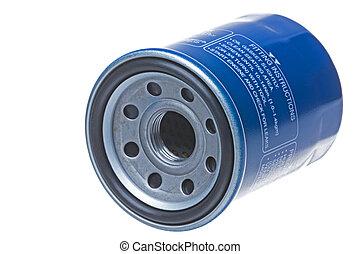 motor, filtro, óleo, isolado