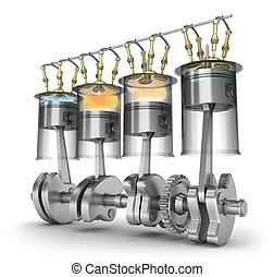 motor, funktion, fungerande, princip