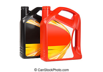 motor, garrafa plástico, dois, óleo