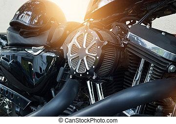 motor, gata, specificera, bakgrund, motorcykel