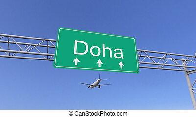 motor gemelo, interpretación, conceptual, llegar, qatar, ...