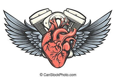Motor Heart Tattoo
