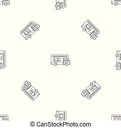 Motor house pattern seamless vector