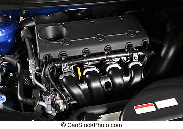 motor, i, den, ny vogn
