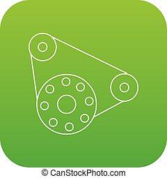 Motor icon green vector