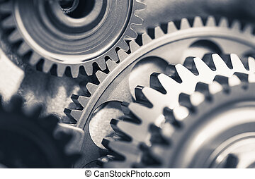 motor, industrie, hintergrund, gang dreht