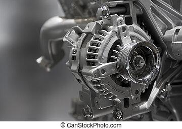 motor, interno, combustión